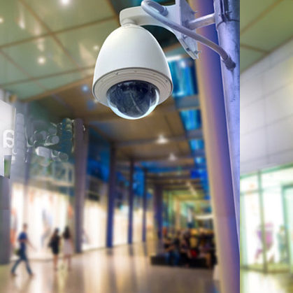 View of mall - security camera